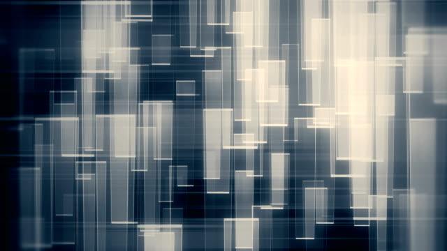 反射ループの背景を持つ抽象的なガラスの形状 - 透明点の映像素材/bロール
