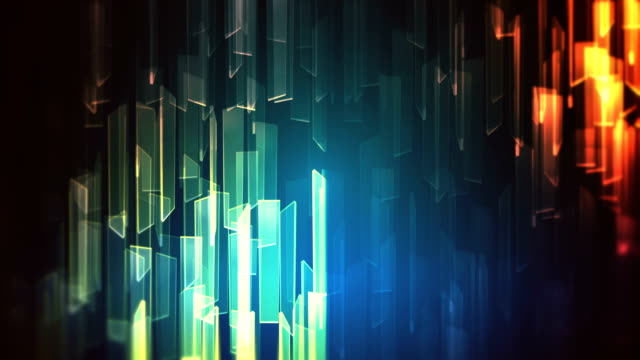 abstract glass shapes with reflections loop background - glass material stock videos & royalty-free footage