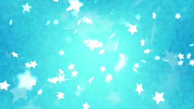 stockvideo's en b-roll-footage met abstracte glinsterende sterdeeltjes bewegingsachtergrond - star shape