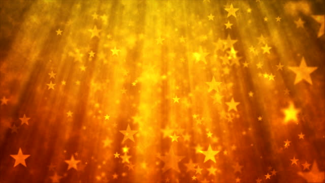 Abstract glittering star particles motion background