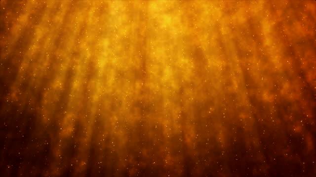 abstract glittering star particles motion background - dorato colore descrittivo video stock e b–roll