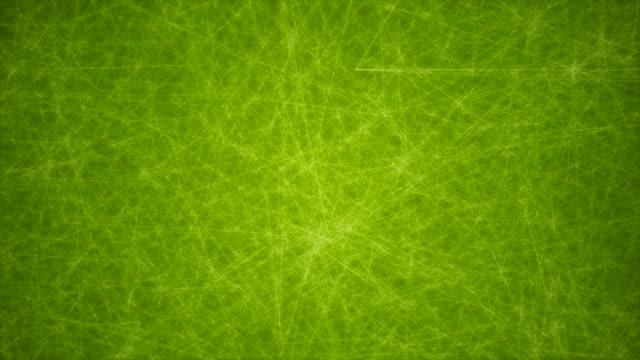 abstrakte glühende futuristische netzwerk, technologie geometrische 4 k grüne hintergrund mit strichen und punkten endlos wiederholbar - connection in process stock-videos und b-roll-filmmaterial