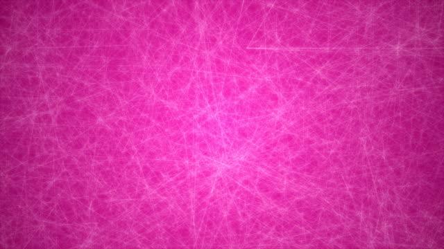 abstrakte glühende futuristische netzwerk, technologie geometrische 4 k rosa hintergrund mit strichen und punkten endlos wiederholbar - connection in process stock-videos und b-roll-filmmaterial