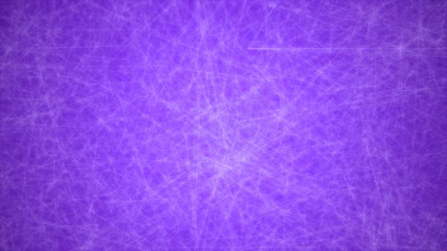 abstrakte glühende futuristische netzwerk, technologie geometrische 4 k lila hintergrund mit strichen und punkten endlos wiederholbar - connection in process stock-videos und b-roll-filmmaterial