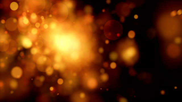 Abstract gold dots animation