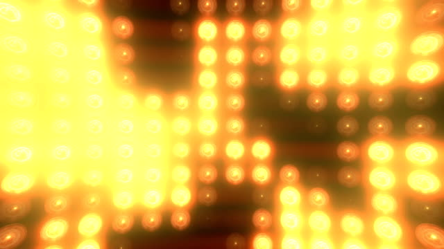 abstract golden floodlight light wall loopable background - disco lights stock videos & royalty-free footage