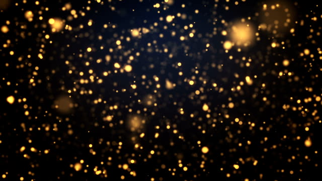 abstract golden moving particles background - bright stock videos & royalty-free footage