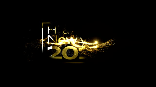 abstract golden new year's transparent - template stock videos and b-roll footage