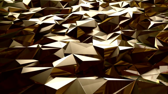 abstract golden triangle background - silver metal stock videos and b-roll footage