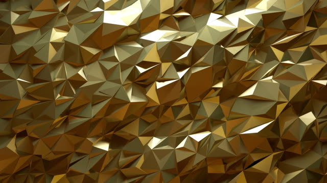 abstract golden triangle background - silver metal stock videos & royalty-free footage
