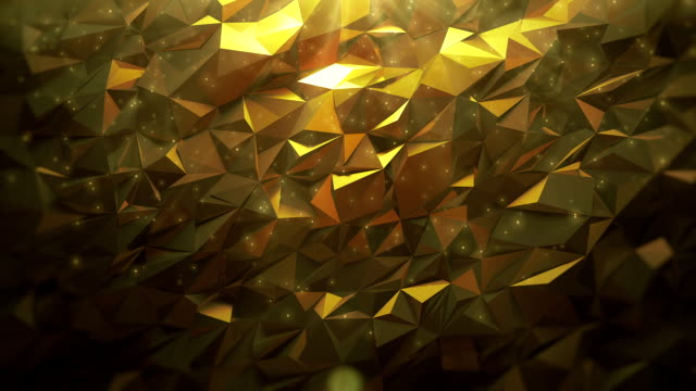 abstract golden triangle background - precious gemstone stock videos & royalty-free footage