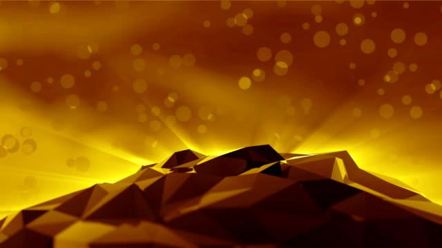 抽象的な黄金の三角形の背景 - 幻想点の映像素材/bロール