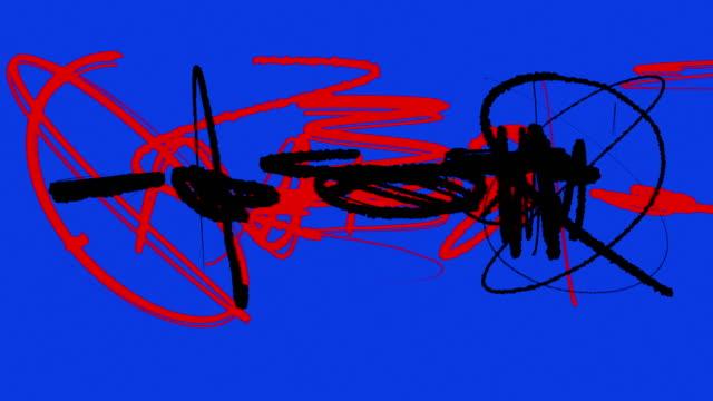 abstract graffiti art - graffiti stock videos and b-roll footage