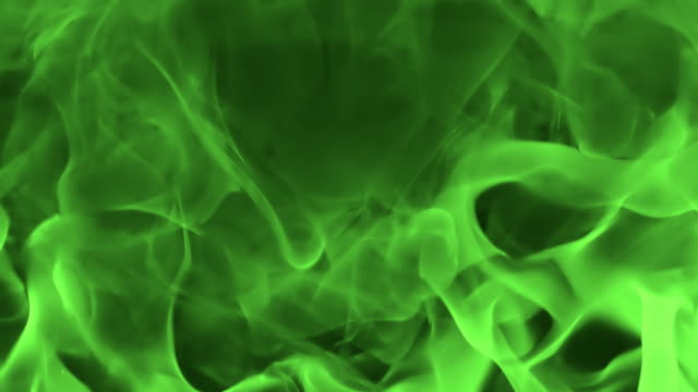 hd slow-motion: abstract green flames - fireplace stock videos & royalty-free footage