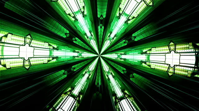 Abstract green caleidoscopio. Seamless loop