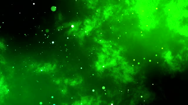 abstract green particles in space - glowworm stock videos & royalty-free footage