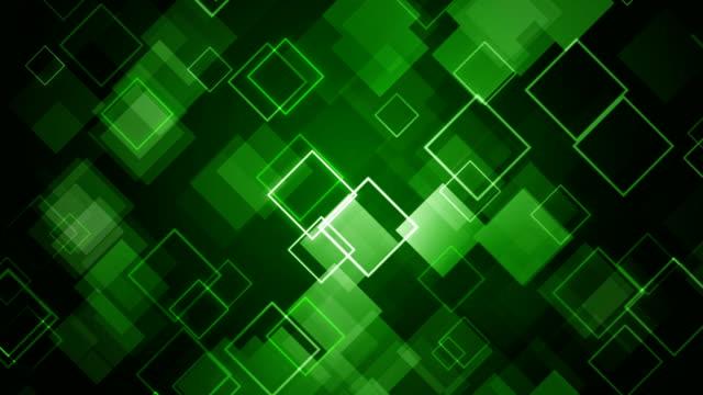 Abstrakt Grün Quadrate Hintergrund - (Endlos wiederholbar)