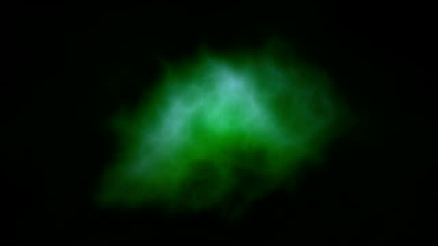 Abstract green streaks of lightning, HD
