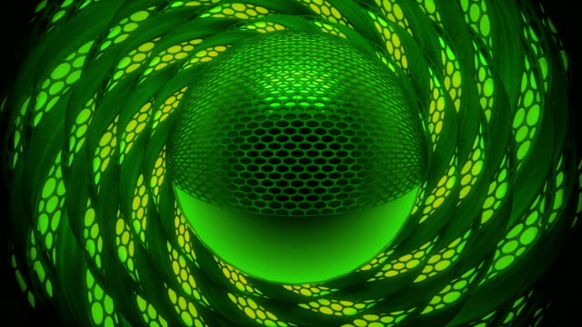Abstract Green technologic animation background