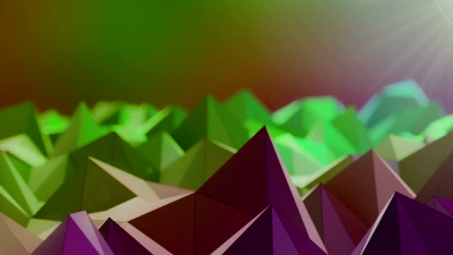 Abstract green triangle shape wave