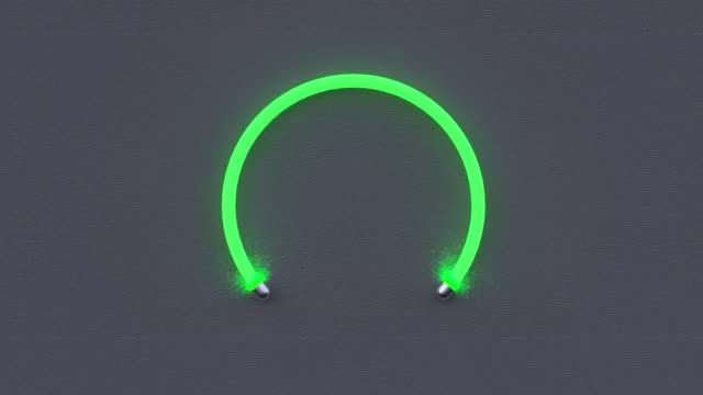 abstrakte graue wandleuchte neon 3d render - einzelner gegenstand stock-videos und b-roll-filmmaterial