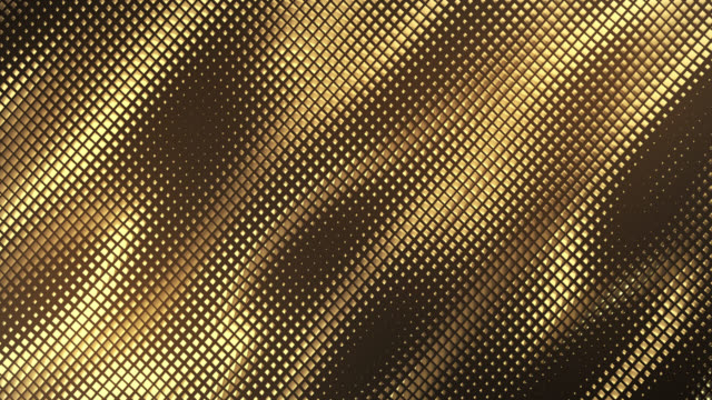 abstract grid background (dark gold) - loop - gold coloured stock videos & royalty-free footage