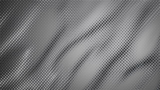 vídeos de stock e filmes b-roll de abstract grid background (silver / gray) - loop - fundo cinza