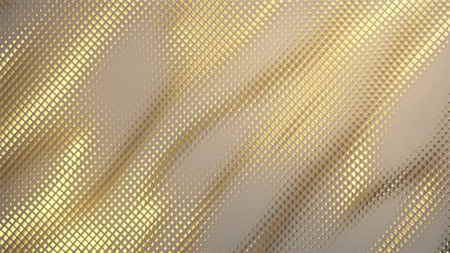 abstract grid background (gold) - loop - loopable moving image stock videos & royalty-free footage