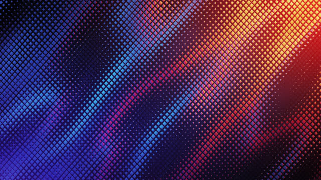 abstract grid background (blue and orange) - loop - wave pattern stock videos & royalty-free footage