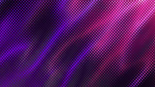 vídeos de stock e filmes b-roll de abstract grid background (pink / purple) - loop - purple