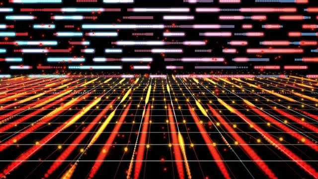 4K abstract grid digitale achtergrond animatie lus, digitale elementen concept