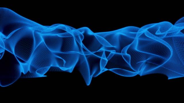 vídeos y material grabado en eventos de stock de fondo abstracto de onda de cuadrícula - frecuencia