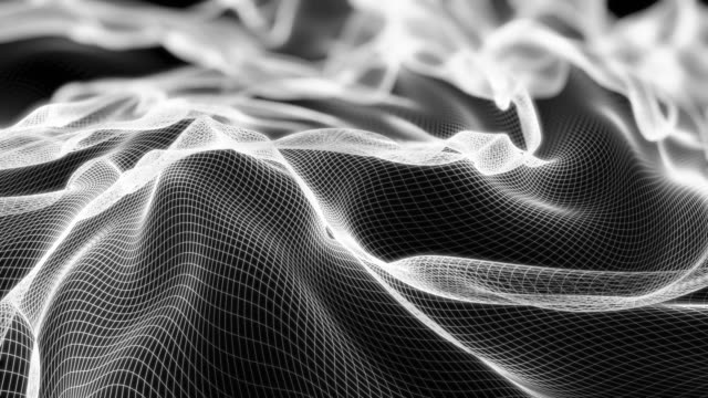 abstract grid wave background - sound wave stock videos & royalty-free footage