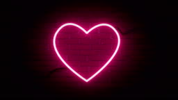 Abstract Hearts shape Neon Backgrounds