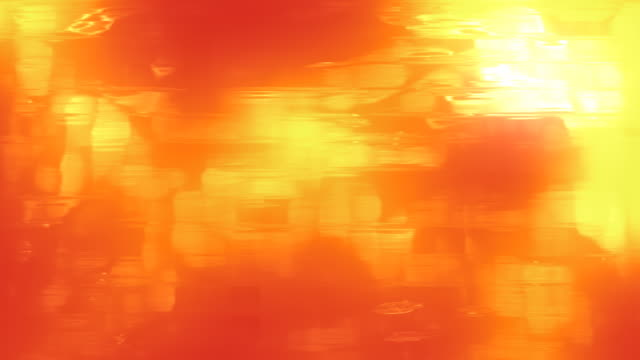 Abstract heavily painted Orange and Yellow loopable watery feel background