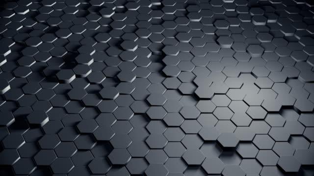 vidéos et rushes de fond abstrait à six pans creux (boucle) - forme tridimensionnelle