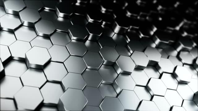 vidéos et rushes de fond abstrait à six pans creux (boucle) - metal texture