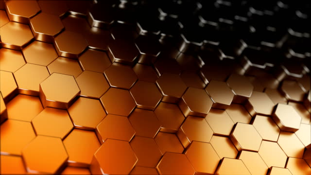 abstract hexagon background (loopable) - hexagon stock videos and b-roll footage