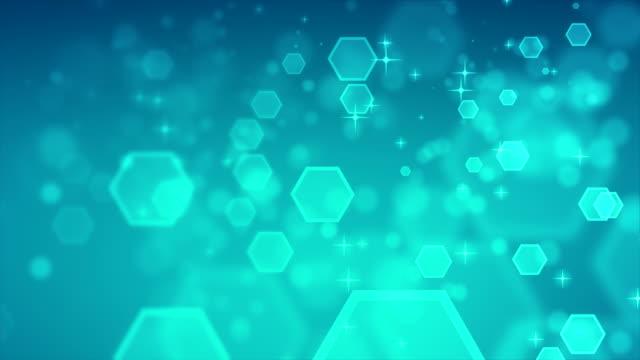 4K abstracte zeshoek blauwe achtergronden loopbare