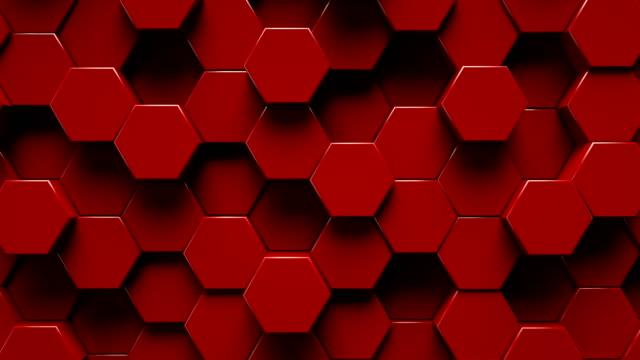 abstrakte sechseck geometrische oberfläche | loopable - sechseck stock-videos und b-roll-filmmaterial