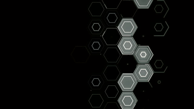 Abstract Hexagon pattern linear movement - monochrome