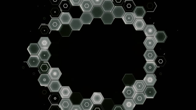 abstract hexagon pattern radial movement - monochrome - physical structure stock videos & royalty-free footage
