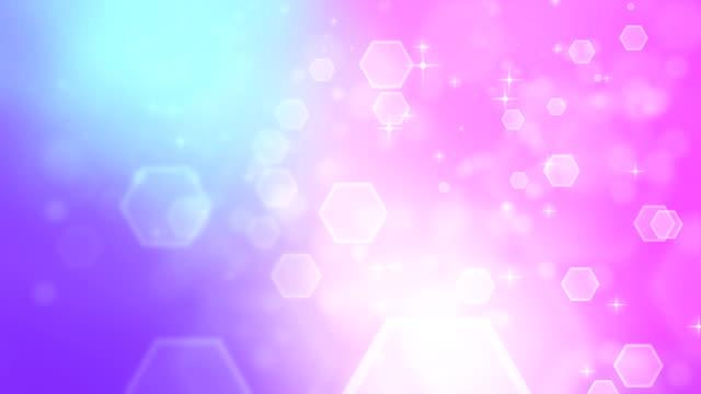 4K abstracte Hexagon roze paars achtergronden loopbare