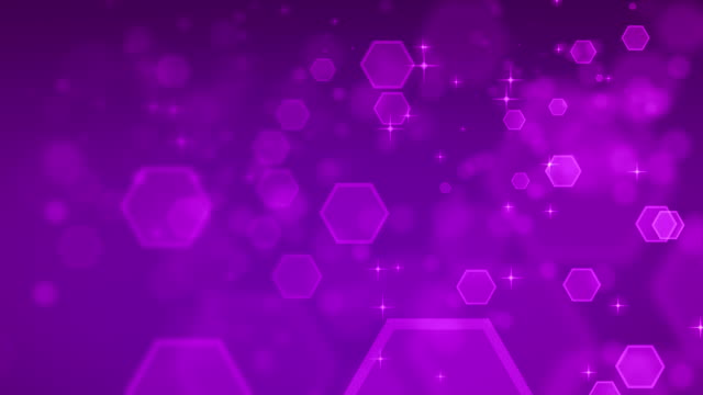 4K Abstract Hexagon Purple Backgrounds Loopable