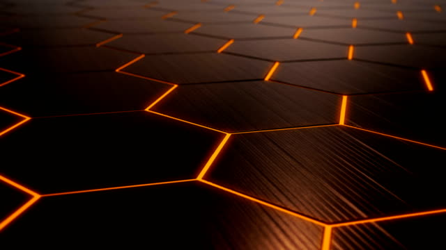 4k abstract hexagon technology background loopable - 4k resolution stock videos & royalty-free footage