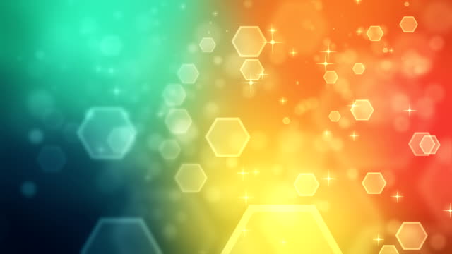 4k abstract hexagon very colorful backgrounds loopable - multi colored background stock videos & royalty-free footage
