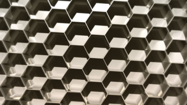 abstract hexagonal shadow background - repetition stock videos & royalty-free footage
