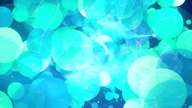 vídeos de stock, filmes e b-roll de fundo elevado da tecnologia abstrata - átomo