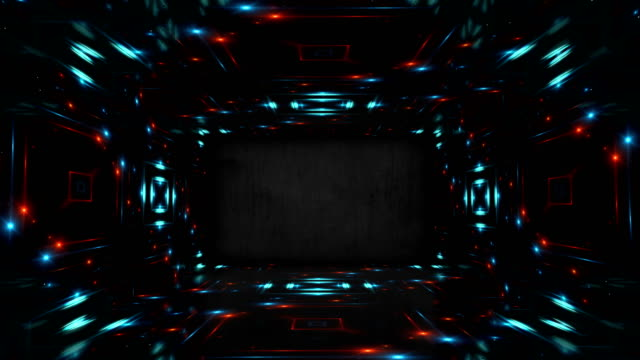 abstract illumination stage. led lights walls seamless loop - decoration stock videos & royalty-free footage