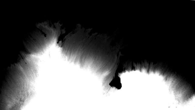 abstract ink splash spreads across the screen - brush stroke stock videos & royalty-free footage